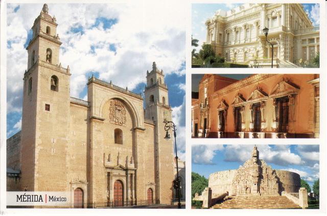 Briefe Nach Mexiko : Die sonnenuhr der catedral de san ildefonso in mérida